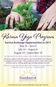 Karma Yoga Program half letter.indd