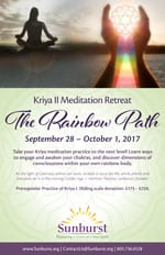 Kriya II Rainbow Path flyer