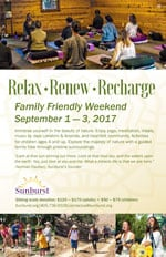Relax, Renew, Recharge Flyer