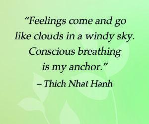 Breathe away feelings